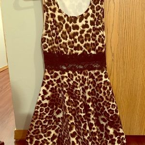 Leopard Print Dress with Lace